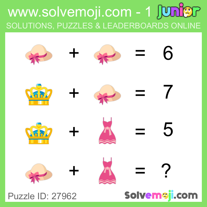 Take on the Solvemoji challenge - how many junior 1 puzzles