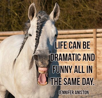 Life can be dramatic and funny all in the same day. Jennifer Aniston #quote https://t.co/hdmzfKLEoE