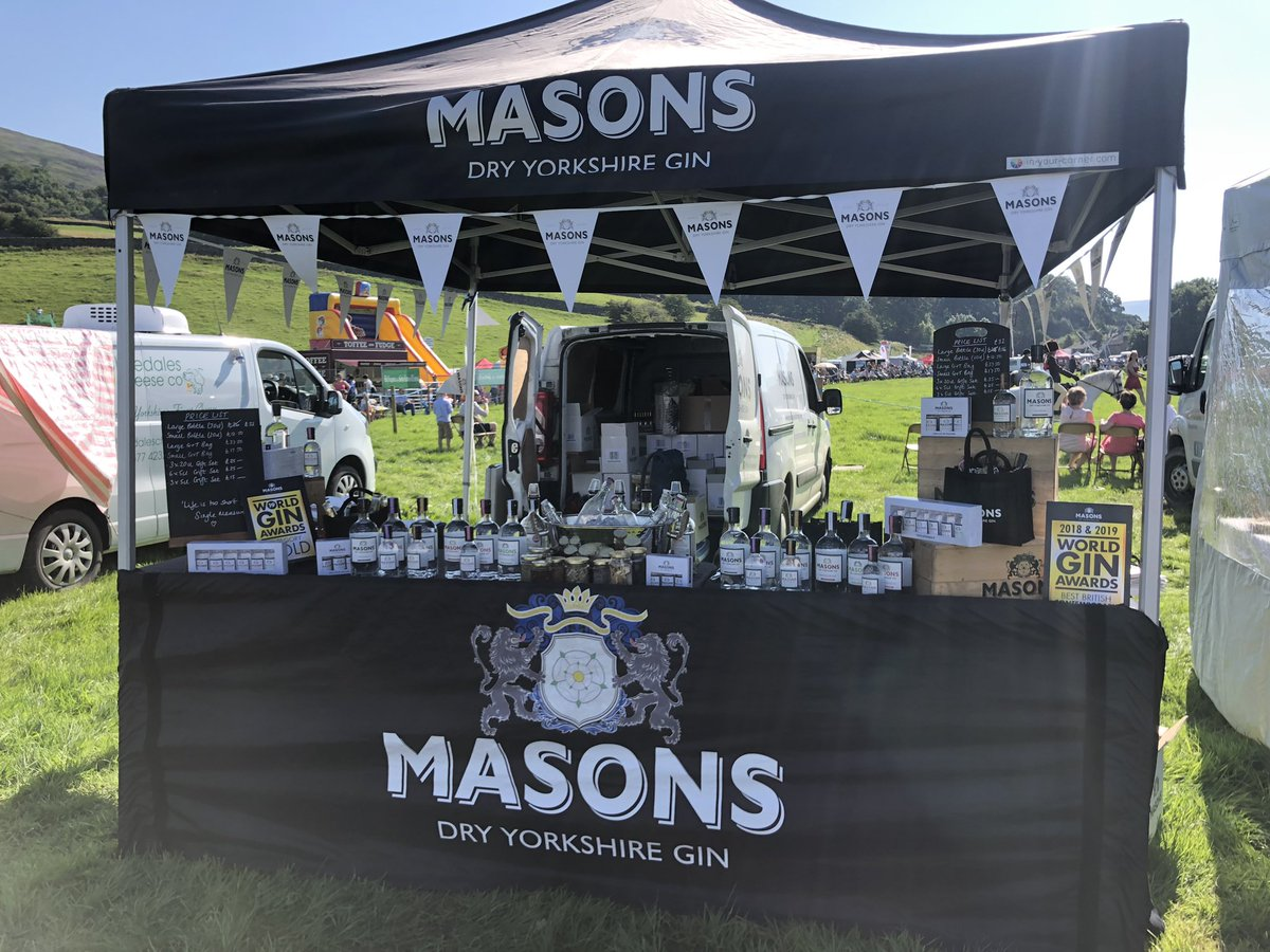 Good to see @MasonsGin #foldingtent looking good in the sun last weekend.