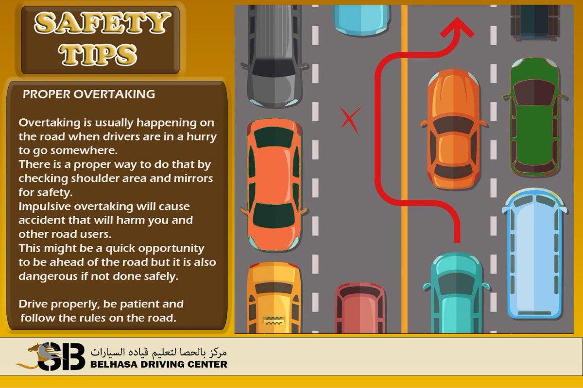 A Safety Reminder From Belhasa Driving Center Proper