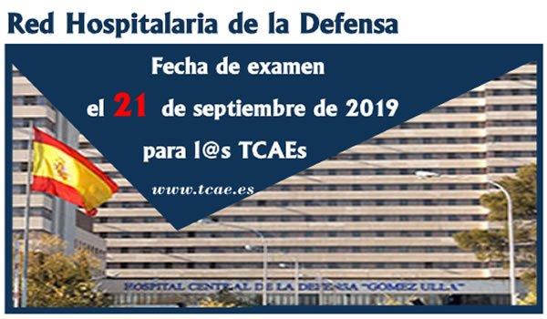 El próximo 21 de septiembre será el examen de Auxiliares de Enfermería / TCAEs de la OPE Red Hospitalaria de la Defensa... EC4KZf5WkAAoIZA?format=jpg&name=small