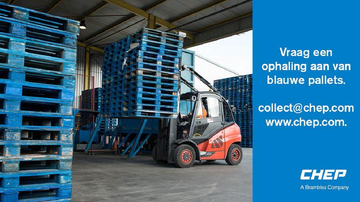 Een voorraad aan gebruikte blauwe pallets die in de weg staat? Wij halen ze gratis op! Vraag vanaf nu ook een gratis ophaling aan via onze website.  #EasyToDoBusiness #CHEP #BluePallet http://ow.ly/Op2d50va71xpic.twitter.com/BU2Z9gNP1R