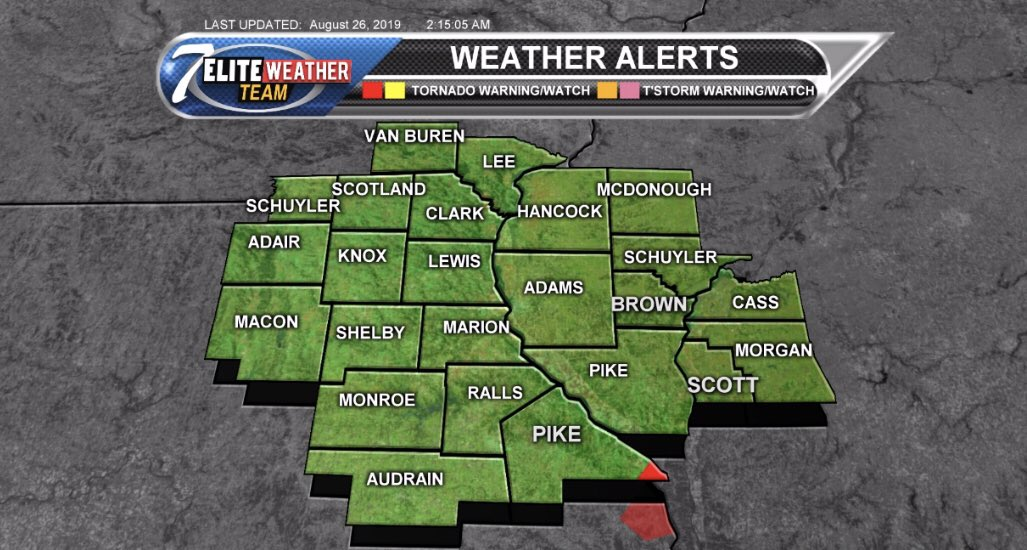 TORNADO WARNING for southeastern Pike County Missouri until 2:45 AM. https://t.co/E7wCUEY0WU