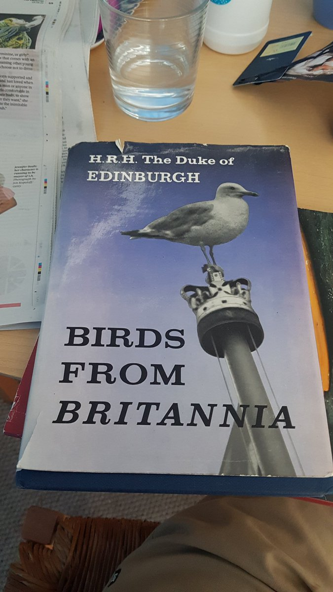 Current holiday read - Prince Philip's collection of predominantly out of focus bird photos from 1959. A fine smelling book though, I have to say. https://t.co/vzUCrlLmKy