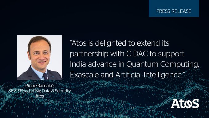 #Atos and @cdacindia sign Cooperation Agreement for global advancement in #QuantumComputing,...