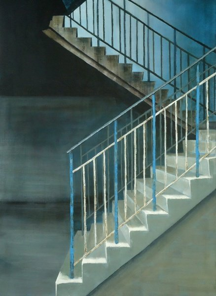 'Stairway'  90x64cm acrylic   oil   canvas : #painting
