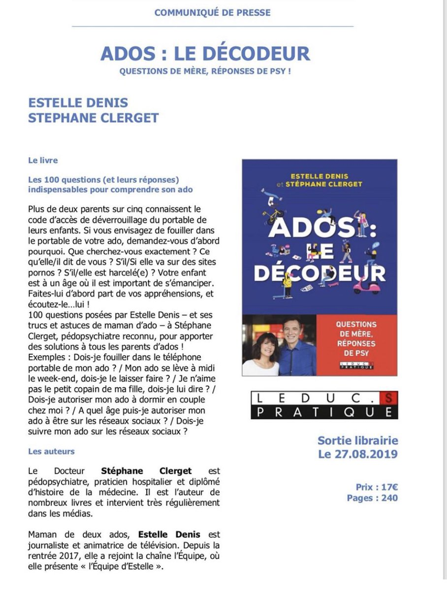 Estelle Denis On Twitter J 1 Editionsleduc