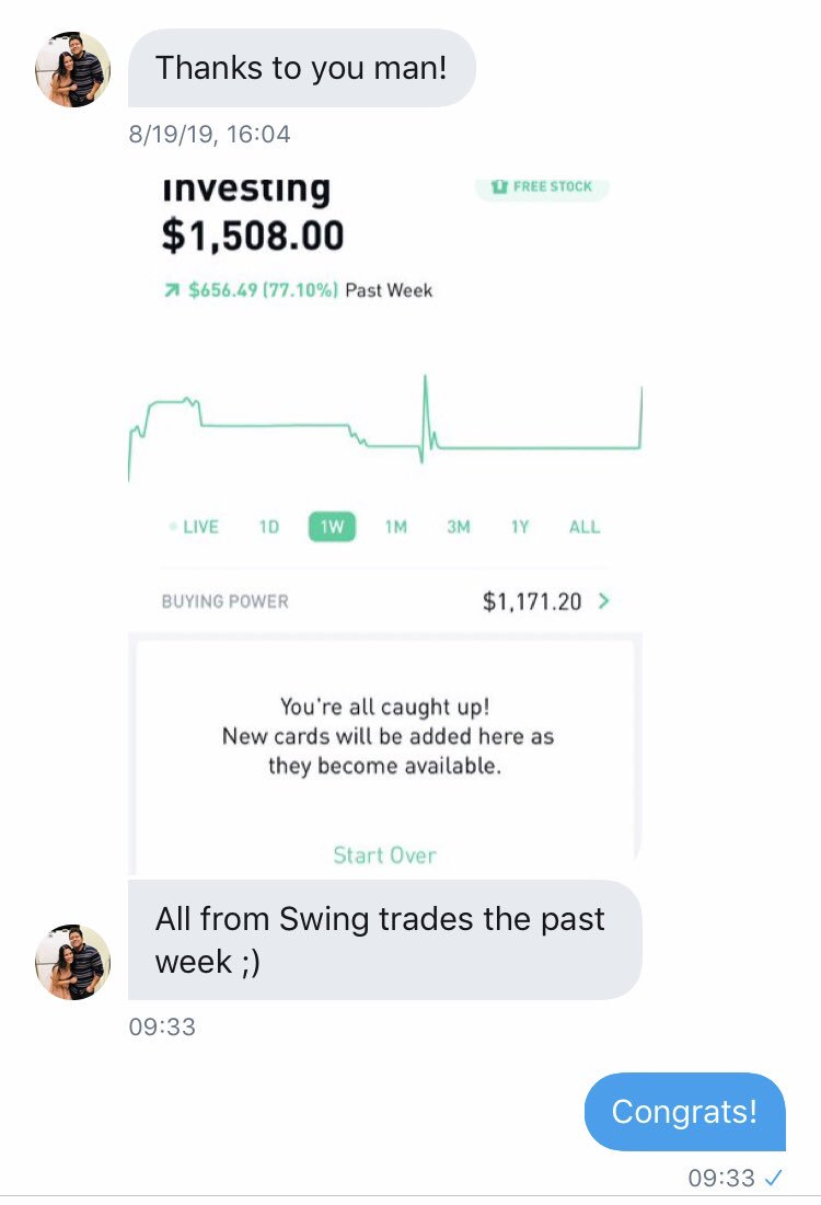 CONGRATS! I'm happy to see members of my service making $ To join my realtime private Options alerts DM me here or email me at daveronnie767@gmail.com PayPal link in bio $49.99/MTH or DM for biweekly link $26.49 $fb $aapl $amzn $nflx $googl $bidu $spy $amd $nvda $tsla $ba $baba https://t.co/bCuFkWyJ4O