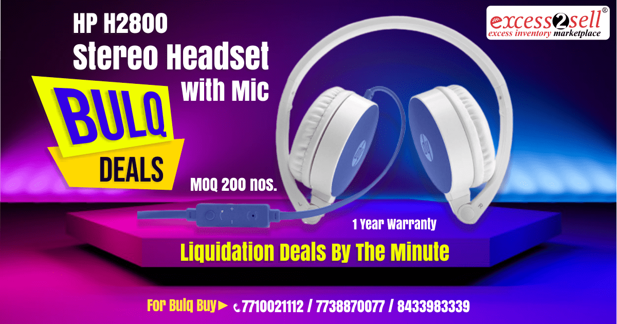 #HP H2800 #Stereo #Headset with #Mic MOQ 200 Nos. Get Here: https://t.co/4rTJo1hg1T Call Now or WhatsApp +91 7710021112 Download App - https://t.co/YdBrHwLJaG | https://t.co/Yq7Zz9UPBo #Excess2Sell #Ecommerce #BlockedCapital #B2B #OnlineDeals #Overstock #Inventory #Wholesale https://t.co/MRKb8dvvRR
