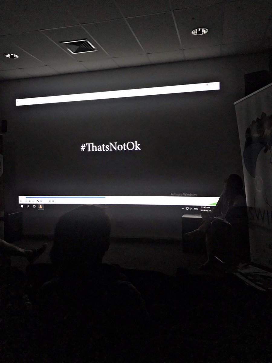 Thanks for joining us on Saturday. #ThatsHarassment #ThatsNotOk