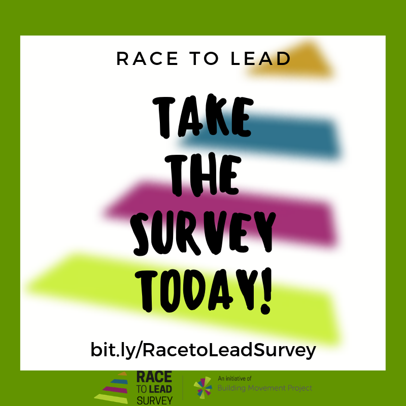 Hey Connecticut folks - if you work for in the US nonprofit sector, please take a moment and take the #RacetoLeadSurvey. It's completely confidential and will contribute important data to the @BldingMovement Project.
