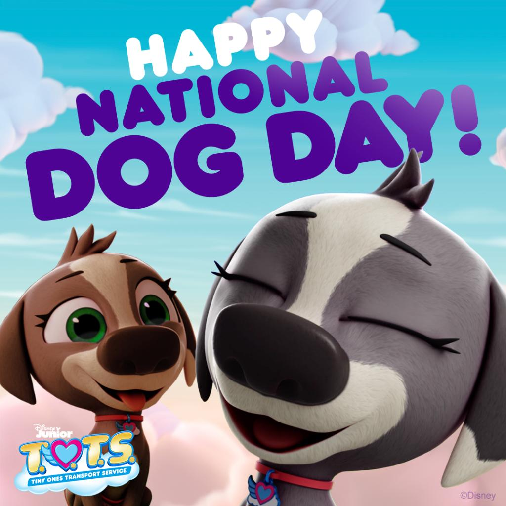Happy #NationalDogDay from your furry friends at #DisneyJunior! 🐶 #DisneyTOTS