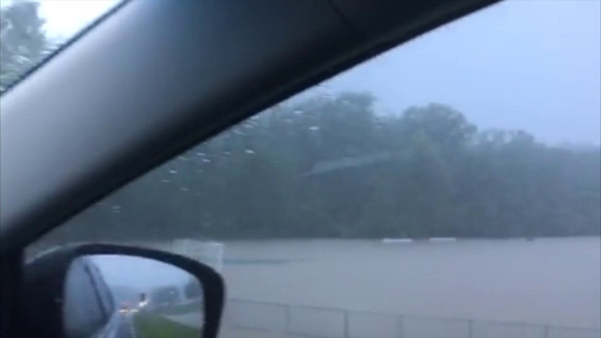 We are hearing of LOTS of school closings because of flash #flooding in the area. We have them #LIVE on @FOX2now at https://t.co/hoHgfFmE5F. This is a still of video sent by @chrisregniertv https://t.co/mM1xlAsatP
