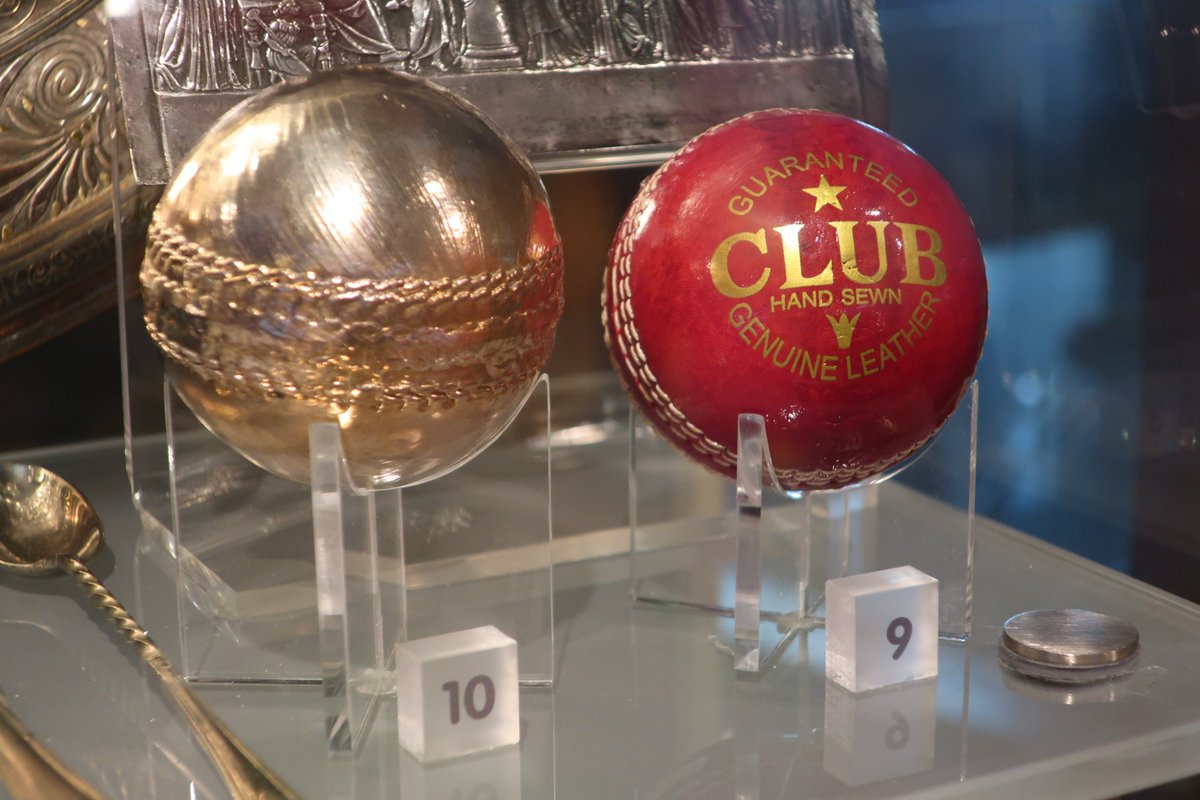 With all the excitement around the #Ashes2019, here's a look at Thinktank's silver-plated cricket ball  We reckon it complements the big gold one that @benstokes38 and the rest of the @englandcricket team received after the #ICCCricketWorldCup2019  <br>http://pic.twitter.com/Ctq9Flwurp