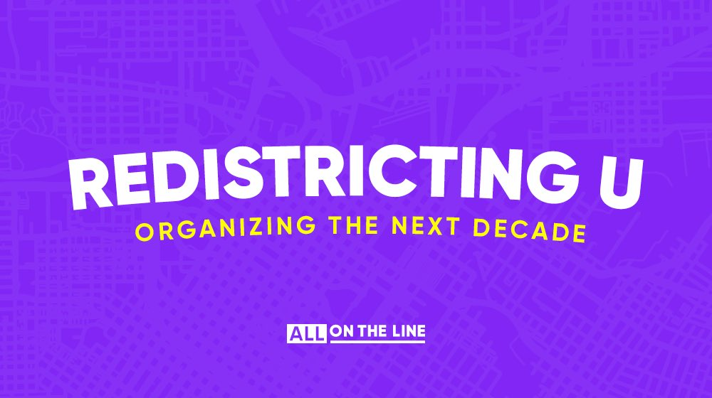Training is at the heart of organizing. It's why I've always made it a priority – from my 2008 campaign until now. And it's why I'm proud to announce @allontheline's  in-person training initiative, Redistricting U. Join us:  http://allontheline.org/redistrictingu