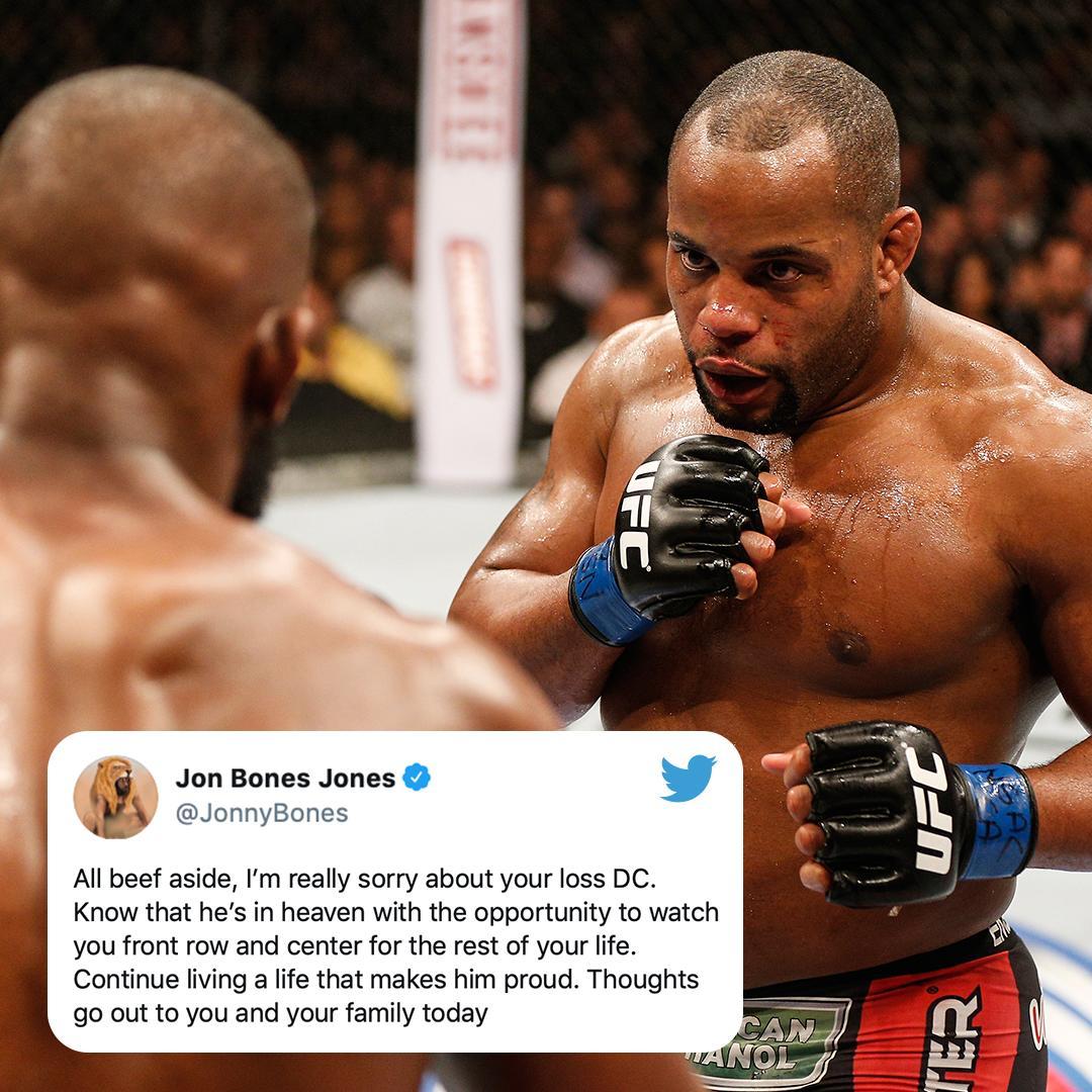 RT @espnmma: Jon Jones puts rivalry on pause after the loss of DC's father (via @JonnyBones) https://t.co/pvY5d0QyH1