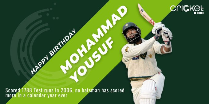 One of the finest batsmen of the 21st century was born Happy Birthday, Mohammad Yousuf!