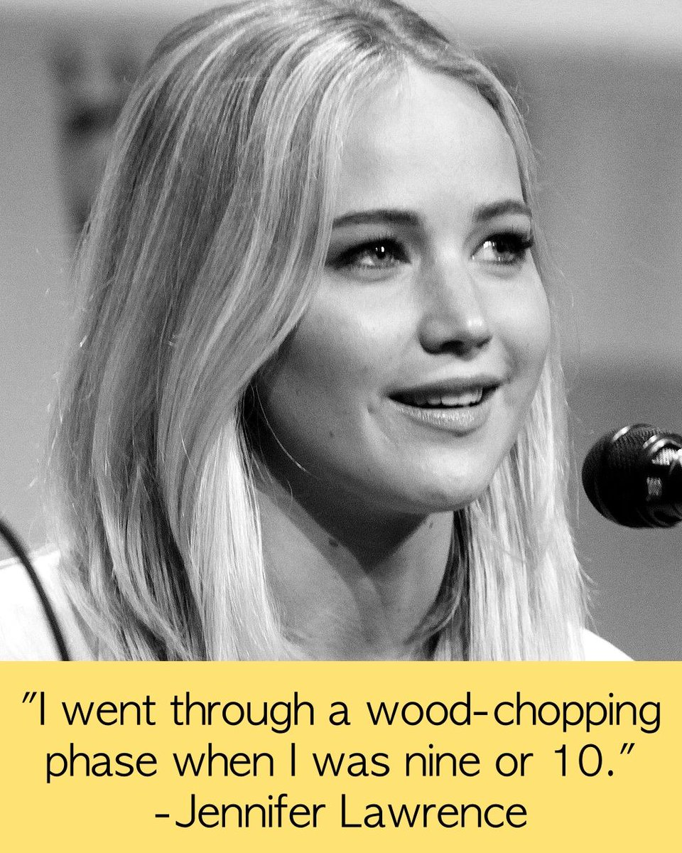 Jennifer Lawrence had a wood-chopping phase. You can have your dying-of-laughter-watching-comedy-specials phase. #FindYourTaste https://t.co/YFVeIxztS4