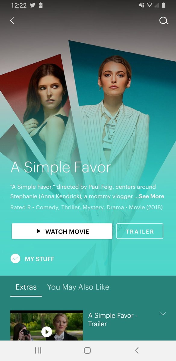 FUCK YESSSS! There goes my plans for the day. Thank you @blakelively @AnnaKendrick47 @hulu #ASimpleFavor https://t.co/IhDBLvYMGG