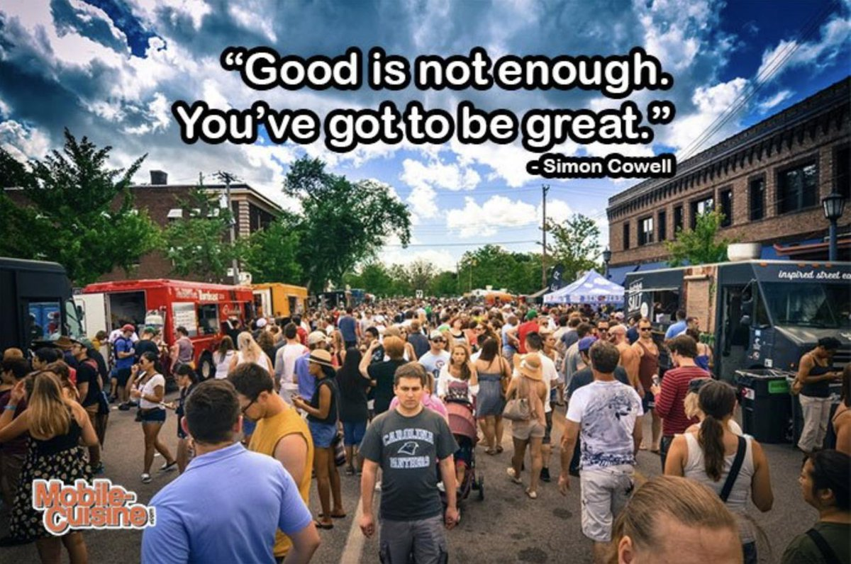 Today's #foodtruck quote of the day comes from Simon Cowell. #MondayMotivation #MondayThoughts #Greatness https://t.co/HkU2Y9wXNl