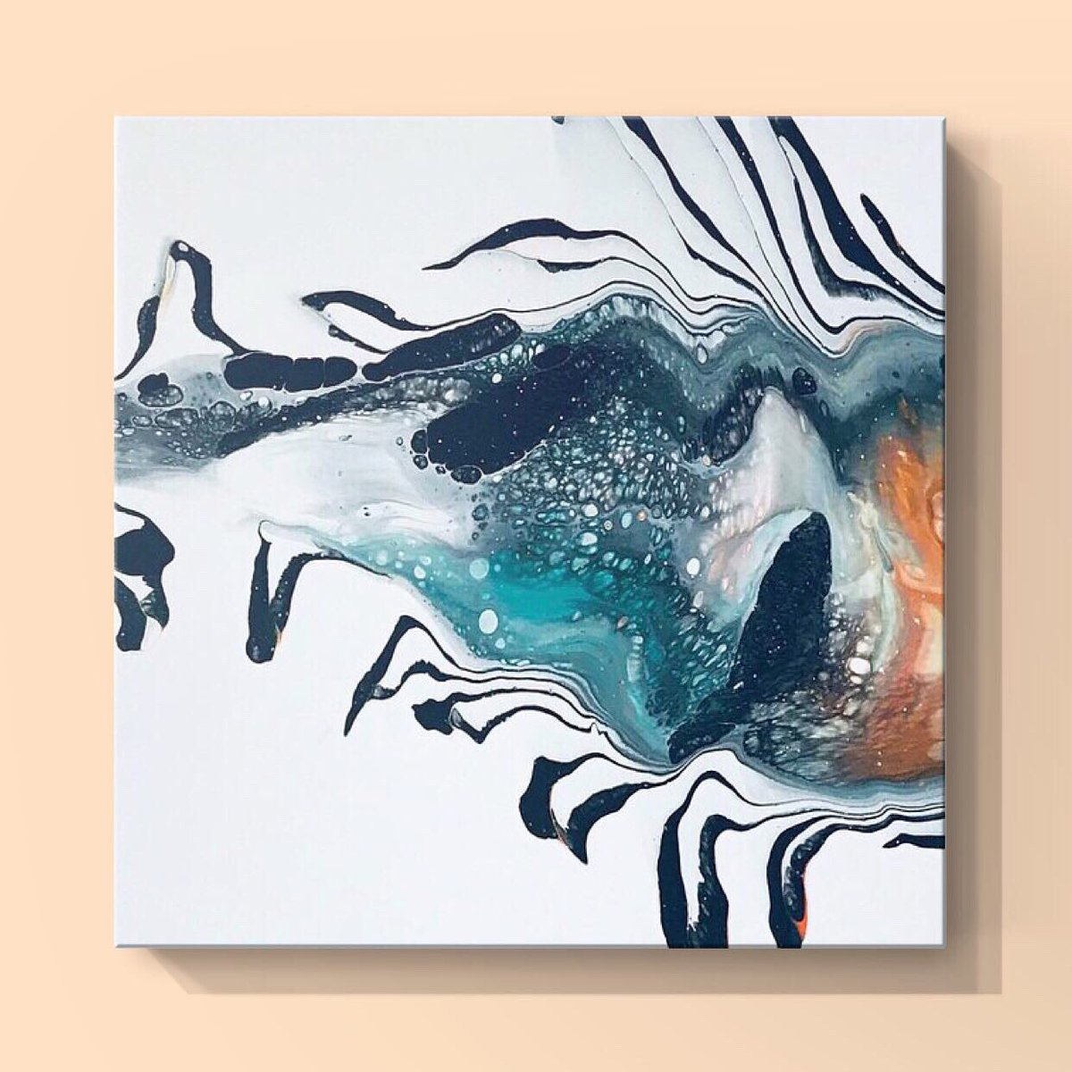 """My """"Fish Tale 2"""" print on canvas! Check out the full collection and #printable options, link to my Fine Art America shop is on bio page. #artprints #printableart #fluidart #abstractart #artcollection https://t.co/pbqsCu3ixy"""