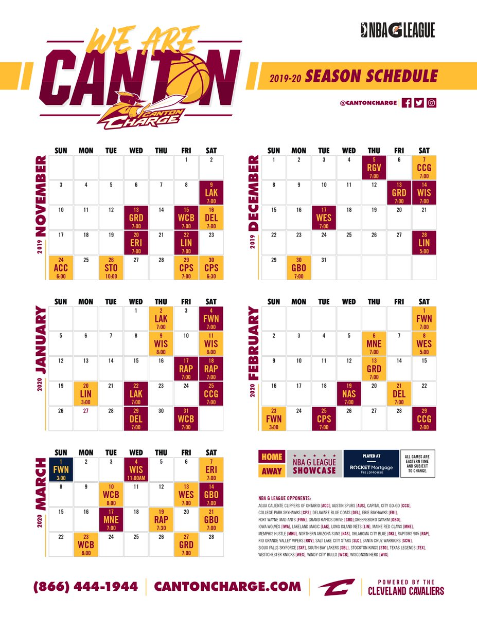 picture relating to Cleveland Cavaliers Printable Schedule named Canton Expense (@CantonCharge) Twitter