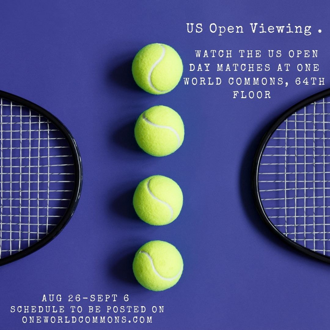 Starting today, #OneWorldCommons will be hosting the US Open viewing in the Commons Café. Take a break and go cheer on your favorite players! #lovewhereyouwork