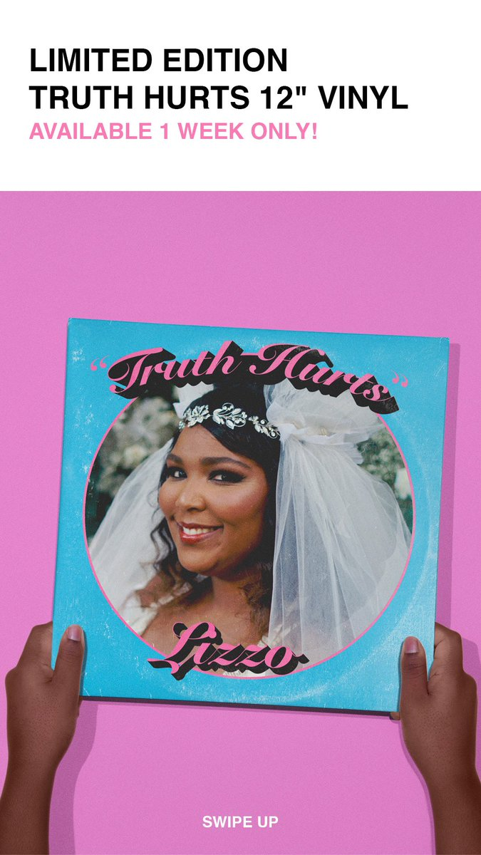 RT @lizzo: BITCH WE DONE FUCKED AROUND N PUT TRUTH HURTS ON VINYL   https://t.co/wXqsMXrhRG https://t.co/ay3eNpwp07