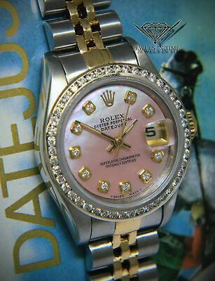 Rolex Datejust 18k Yellow Gold/Steel Pink MOP Diamond Ladies 26mm Watch 69173: $4,150.00 End Date: Thursday Sep-26-2019 11:00:15 PDT Buy It Now for only: $4,150.00 Buy It Now | Add to watch list https://t.co/tM70LFZZlM https://t.co/QKkLMABlnY