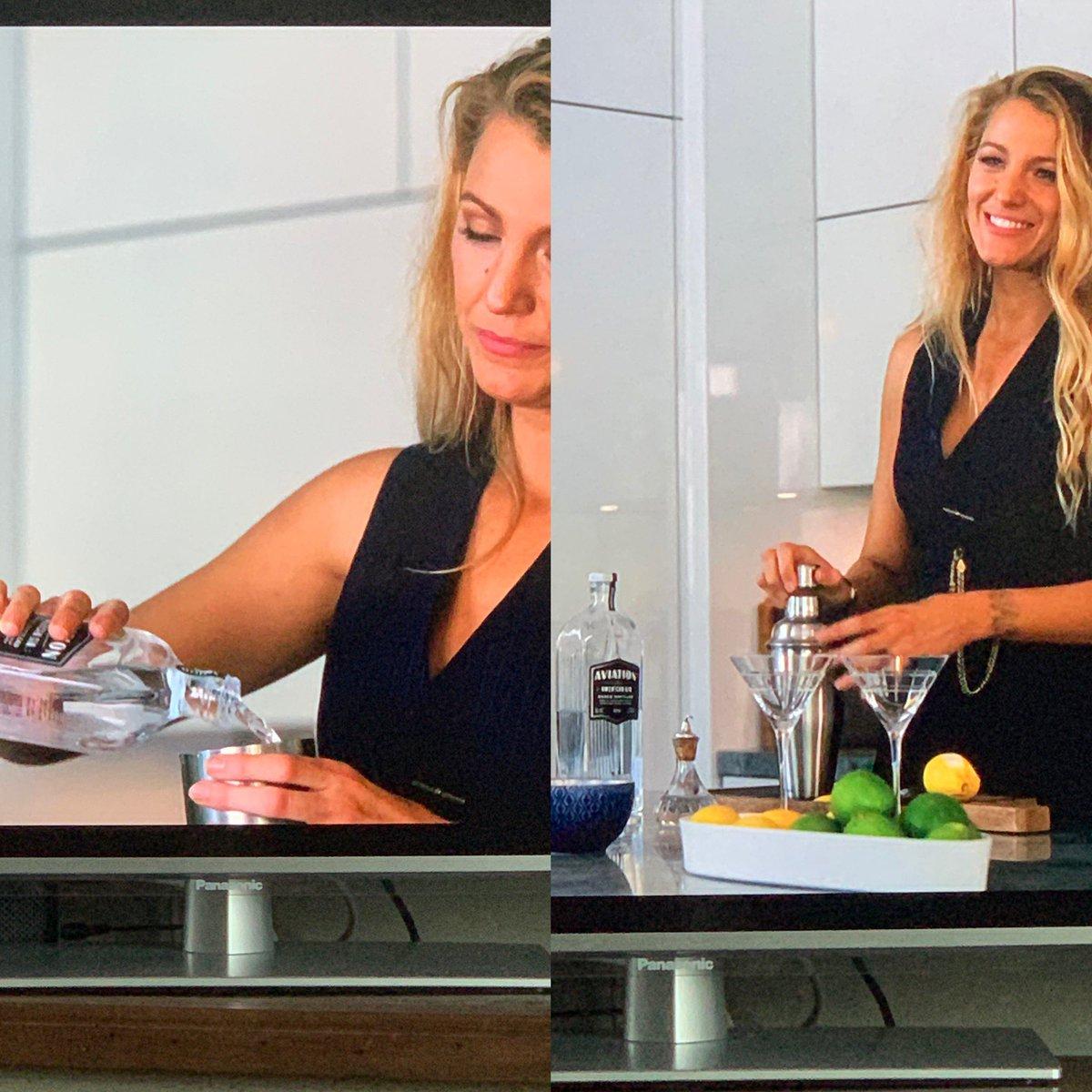 Shaken not stirred @blakelively @AviationGin   Was this filmed in @VancityReynolds family kitchen?  Watching @ASimpleFavor on #@NetflixUK #asimplefavor https://t.co/jRCgXt1rAA