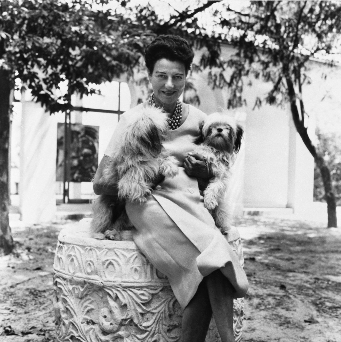 Guggenheim Museum On Twitter Photo Peggy Guggenheim In The Garden Of Palazzo Venier Dei Leoni Venice 1950s Behind Her Karel Appel The Crying Crocodile Tries To Catch The Sun 1956 Photo Roloff