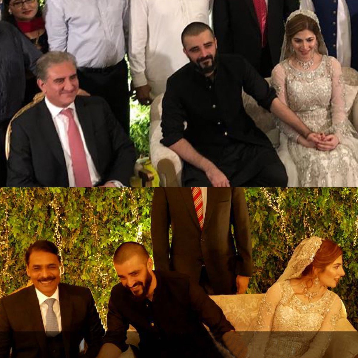 DG ISPR Major General #AsifGhafoor and Foreign Minister #ShahMahmoodQureshi attend actor #HamzaAliAbbasi's wedding reception in Islamabad.  #HamzaWedsNaimal  @OfficialDGISPR @SMQureshiPTI<br>http://pic.twitter.com/6VwqZ9U0h3