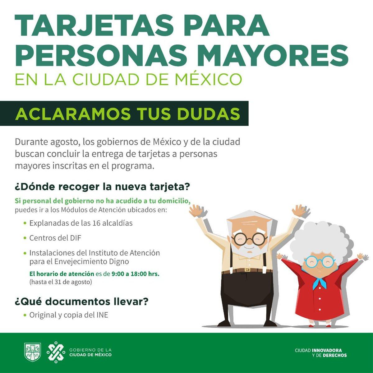 Gobierno Cdmx On Twitter Los Casi 525 Mil Adultos Mayores