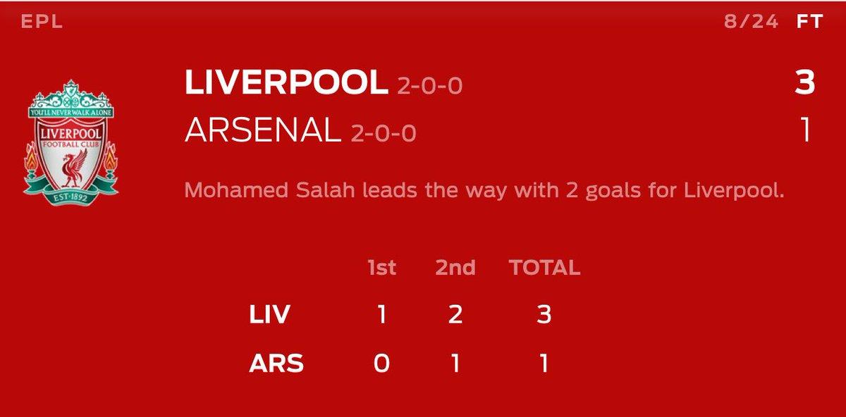 EPL - Liverpool vs Arsenal - ago 24 https://t.co/WfWLMVPKSo