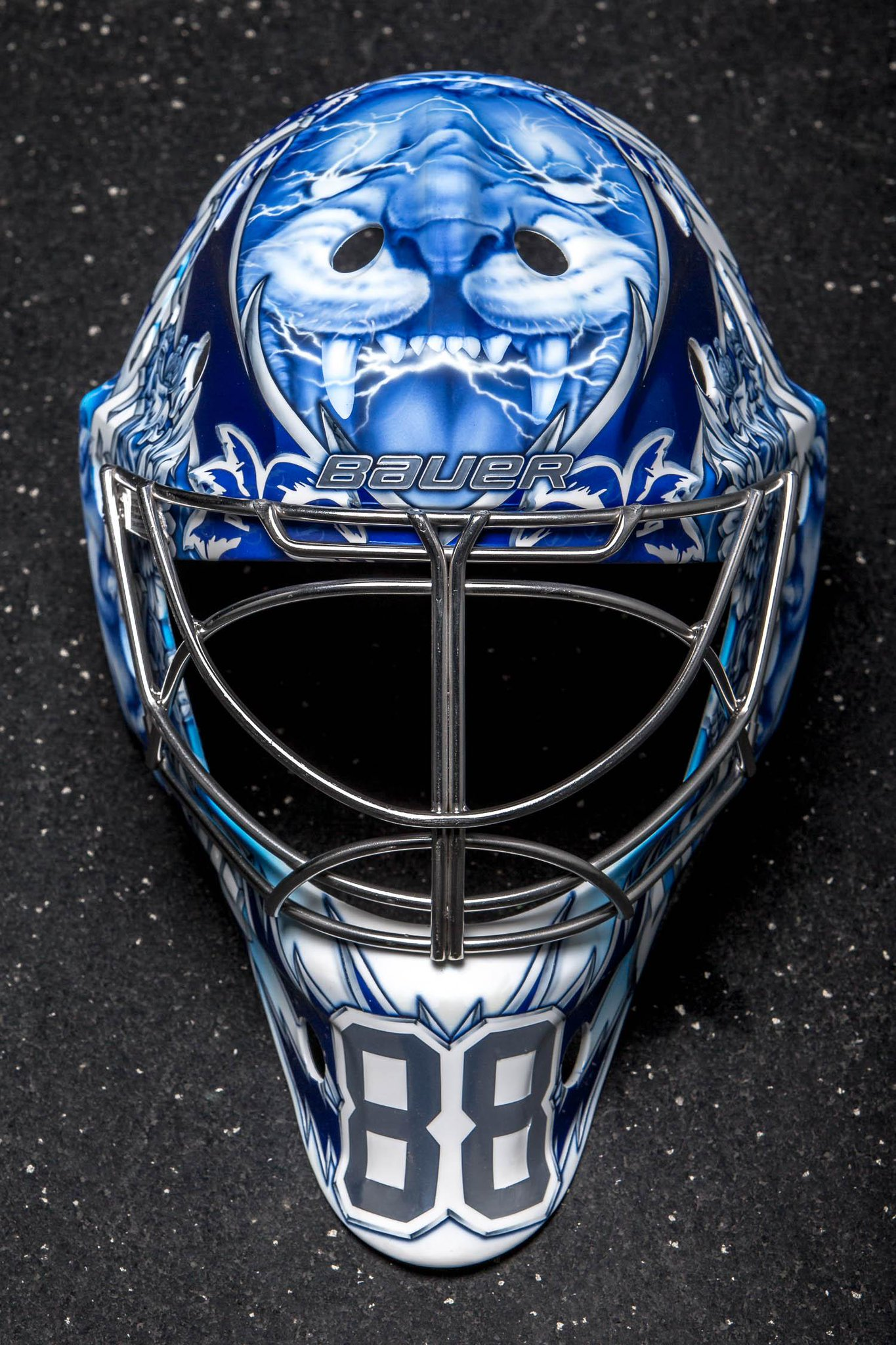 NHL (National Hockey League): The details in Andrei Vasilevskiy's new mask are STUNNING.  Talk about bringing the t̶...