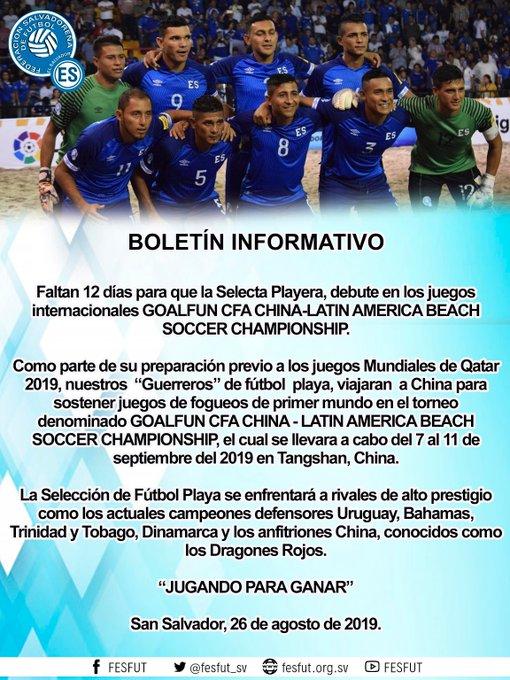 2019 Goalfun CFA China - Latino America Futbol Playa campeonato. EC7dJ2vXYAEWp_J?format=jpg&name=small