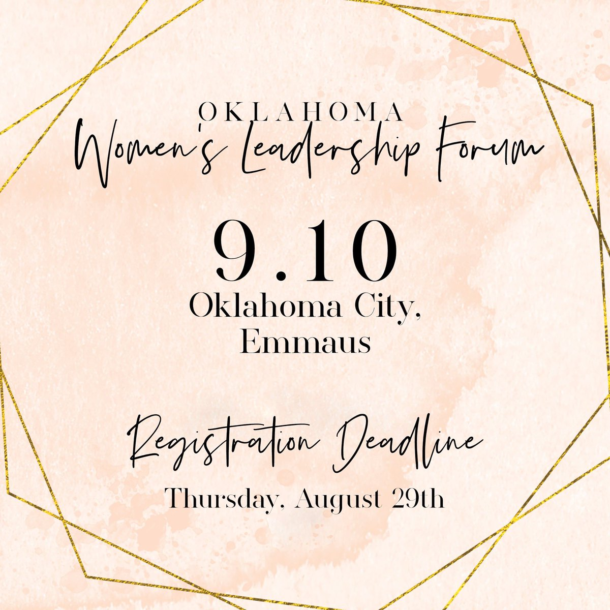 test Twitter Media - We are getting excited about September! The registration deadline for the OKC event is this Thursday. Invite your entire women's team to join you! https://t.co/jLuGVokCUg https://t.co/L9sOMIr6TE
