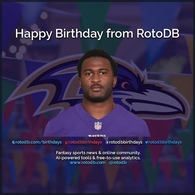 https://t.co/ykmRz7Zt6D Happy 28th Birthday Javorius Allen (Baltimore Ravens) from @rotodb #HappyBirthday #HBD #Birthday #CakeDay #Sports #Fantasy #FantasySports #NFL #NationalFootballLeague #Football #FantasyFootball #RavensFlock #Baltimore #BaltimoreRavens #Ravens @Ravens https://t.co/GDgeJTz5c1