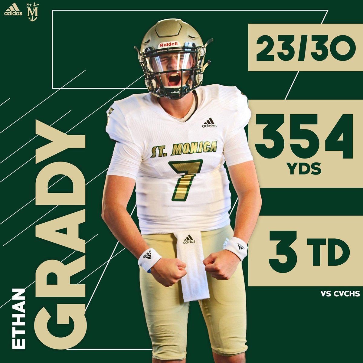 Aaron Rodgers meets Tom Brady, introducing Ethan Grady. The next man up for C/O 2021. Remember this kid.... he has
