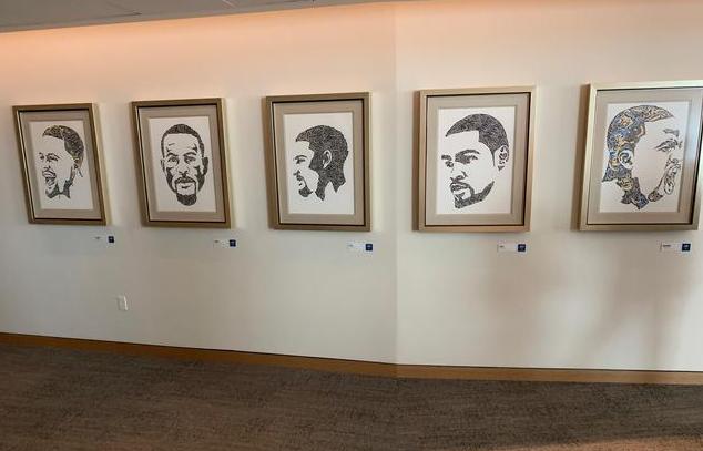 【影片】感激付出!勇士新球館大通中心走廊懸掛漢普頓五小形象畫
