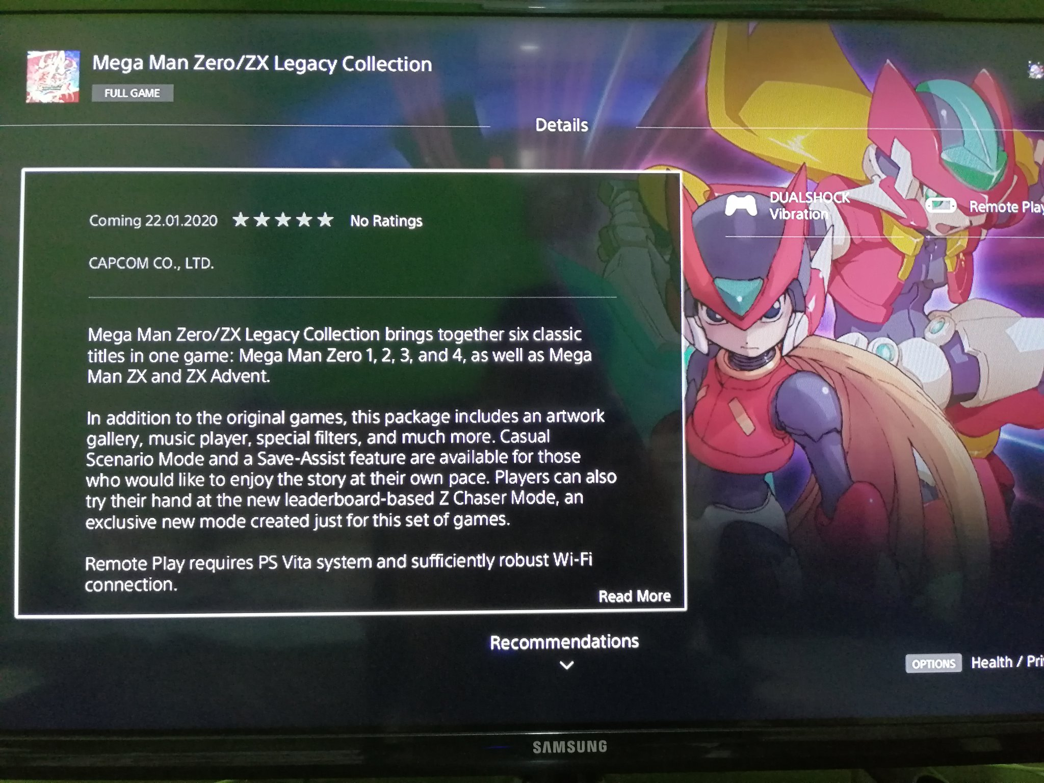 MegaMan Zero/ZX collection leaked, likely PS4/Xbox/PC