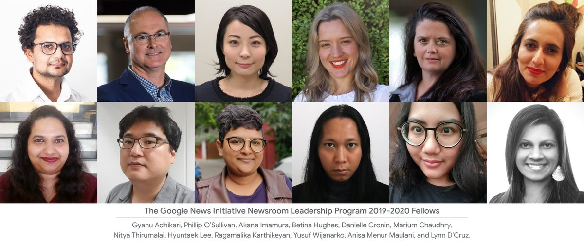 Meet the 2019-2020 GNI Newsroom Leadership Program Fellows and hear from @raju about what's in store for them at @columbiajourn: blog.google/outreach-initi…