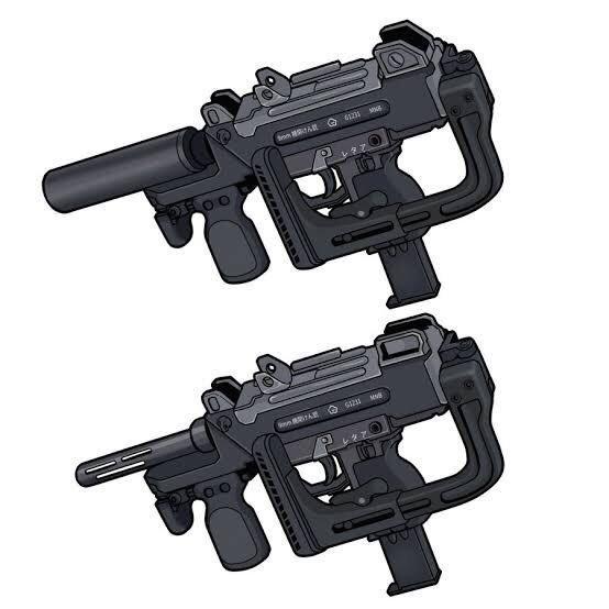 """ねんまつたろう na Twitterze: """"#どんとこい架空銃 9mm機関けん銃に ..."""