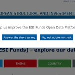 Image for the Tweet beginning: Do U use the #ESIFOpenData