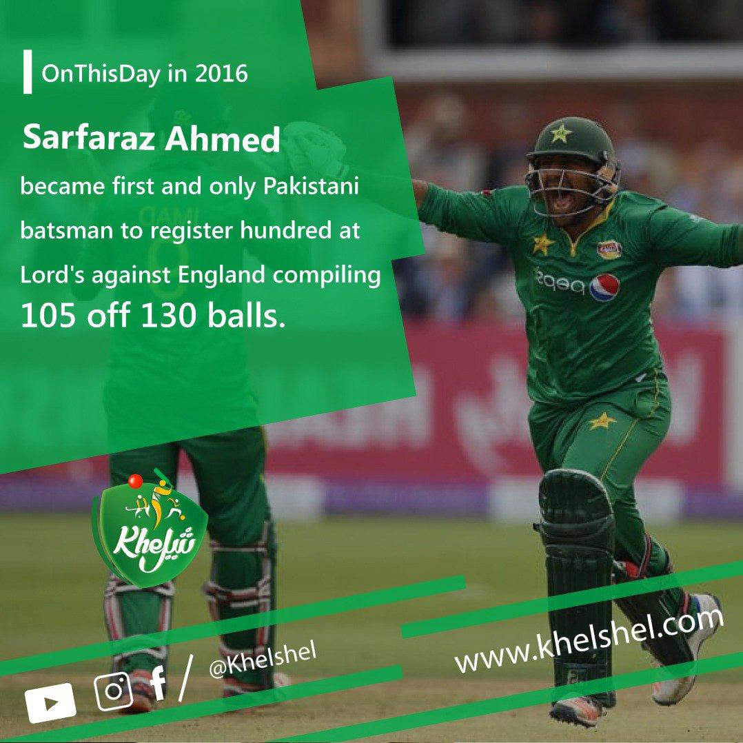 .@SarfarazA_54 put his name on honours board and became first Pakistani batsman to record hundred at Lords against England.#PAKvENG #Cricket #Pakistan #Karachi #Lahore #SarfarazAhmed #Captain #PCB #England #Lords #HomeOfCricket