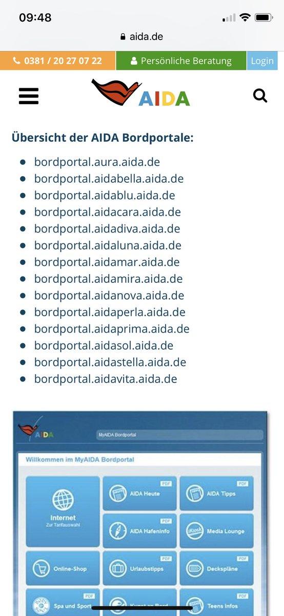Moin @aida_de  Die Links zum Bordportal auf Eurer Homepage sind falsch #aida #aidasolmomente pic.twitter.com/HCSmEesWXU