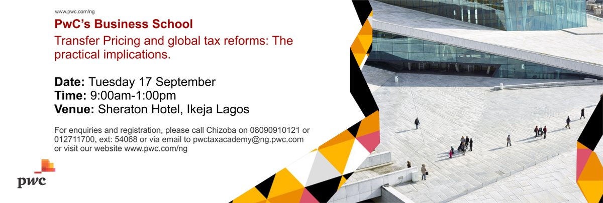 The September edition of #TaxAcademy will discuss 'Transfer Pricing and global tax reforms: The practical implications. Please click here to register:  http:// ow.ly/4mSA50vKFnN    <br>http://pic.twitter.com/jzcSc3sg4V