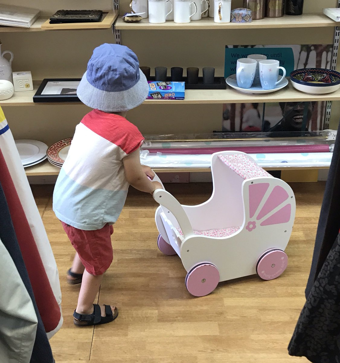 @LetToysBeToys my boy's choice of entertainment as I dropped some bits at the charity shop today ❤️