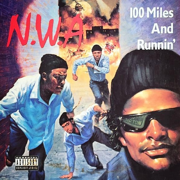 #HipHopHistory: #100MilesAndRunnin' is the only extended play release by #westcoast #hiphop group #NWA. It was released in August of #1990 via #EazyE's #RuthlessRecords. Reviews were positive and by September #1992, it had reached Platinum status. #classichiphop #westcoasthiphop<br>http://pic.twitter.com/tr3eaxgGLc