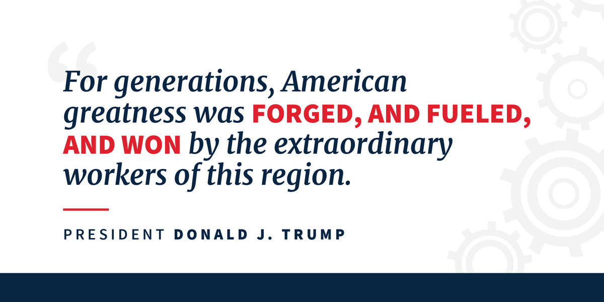 American manufacturing is BOOMING—for the first time in decades. 🇺🇸 45.wh.gov/BDrovP